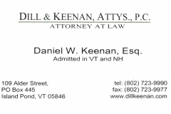 Dill and Keenan_Business Card