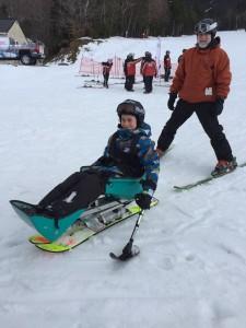 Jesse in Sit Ski