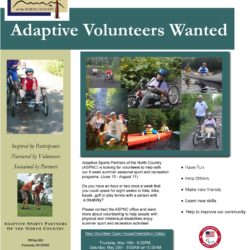 ASPNC is looking for volunteers to help with our 8 week summer seasonal sport, recreation, and wellness programs (June 19 - August 11)